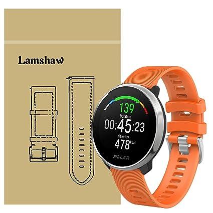 for Polar Ignite Band, Blueshaw Sport Replacement Strap Soft Silicone Straps for Polar Ignite Fitness Watch (Orange)