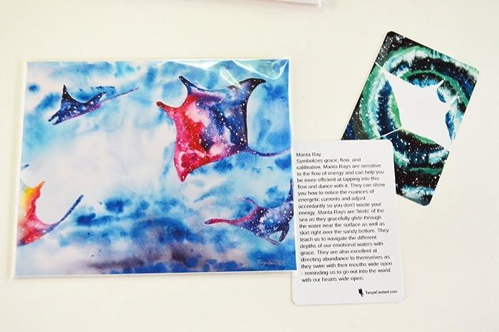 Amazon Rainbow Manta Ray Galaxy Spirit Animal Art Print From