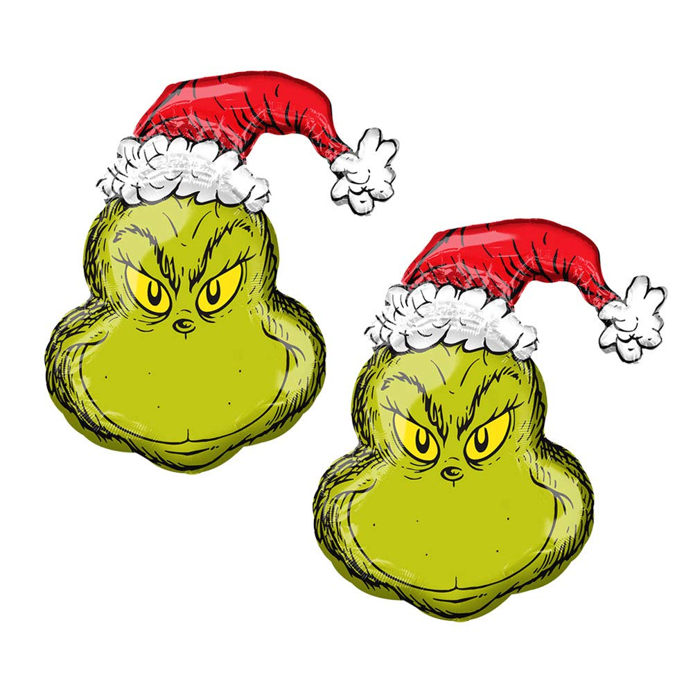 How The Grinch Stole Christmas Characters Cartoon.Dr Seuss How The Grinch Stole Christmas Cartoon 29 Foil Holiday Balloon 1