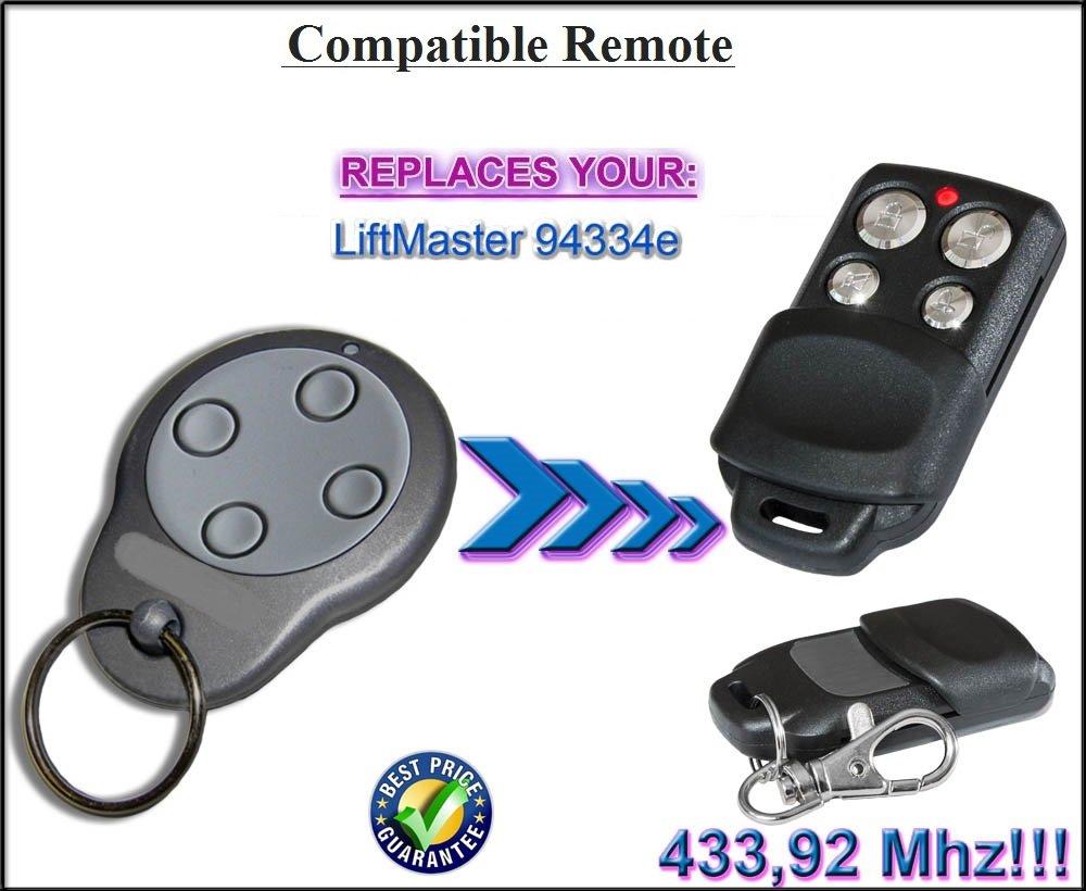 Liftmaster 94334E compatible mando a distancia, 433.92Mhz rolling code sustituye remoto. De alta calidad a distancia fumar