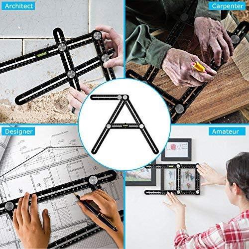 Multi-Angle Winkelmesser Lineal Vorlage Schablon Messen Messgerät Aluminium DE