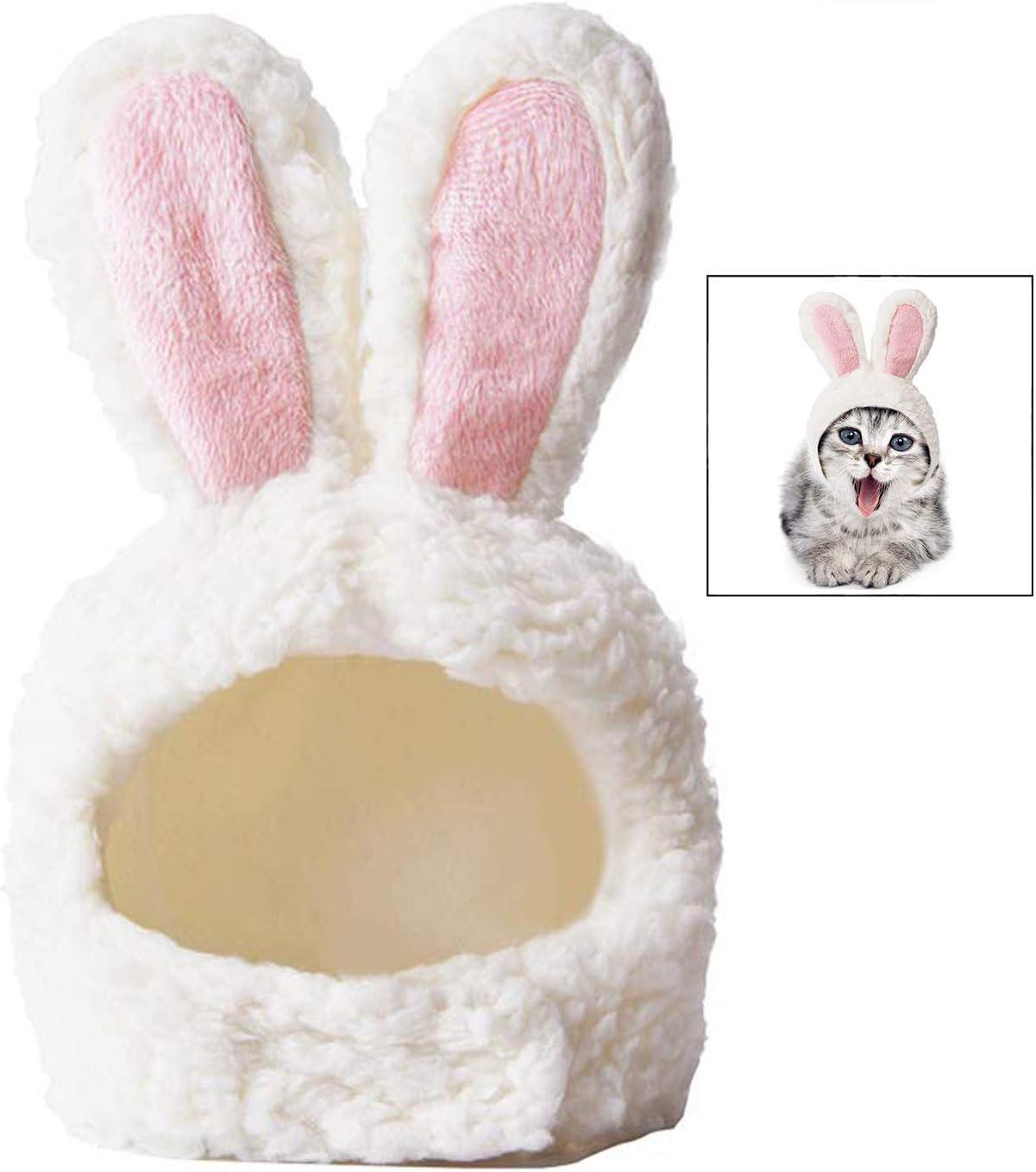 iwobi Disfraz Gato, Orejas de Gato en Forma de Conejo Gorro de Gato para Mascota, Disfraz para Gato Orejas de Conejo para Cosplay de Pascua