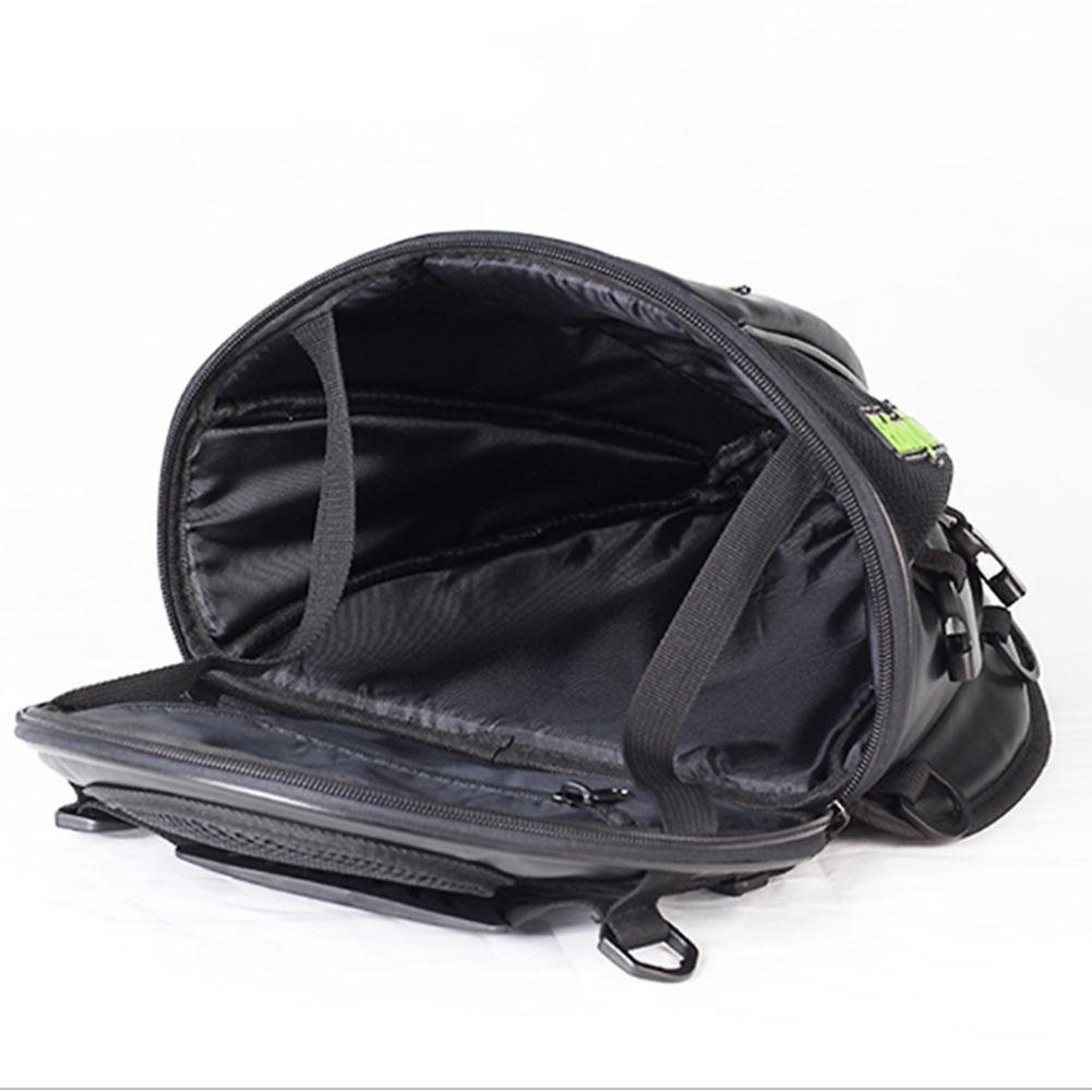 Purebesi Motorcycle Tank Bag Motorcycle Leather Saddle Bags Motorcycle Travel Luggage Waterproof Riding Tail Pack Seat Bag for Motorcycles Motorbikes