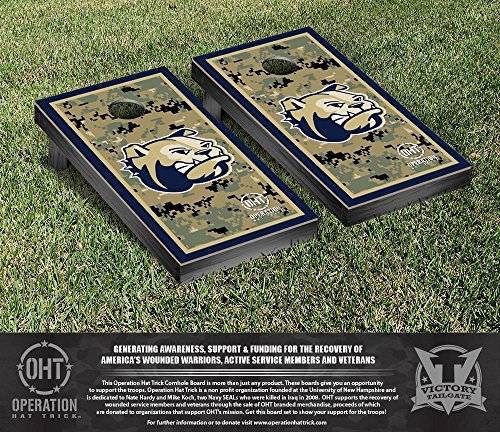 NCAA Wingate University Bulldogs Border Version Operation Hat Trick Cornhole Game Set by Victory Tailgate