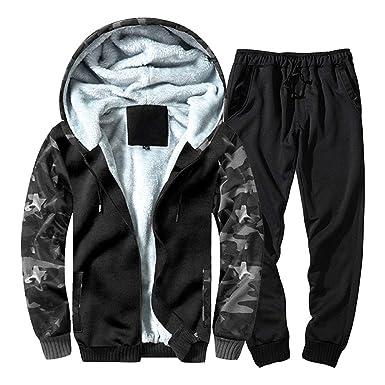 Snner Hombres chándal Conjunto de invierno polar capucha chaqueta ...