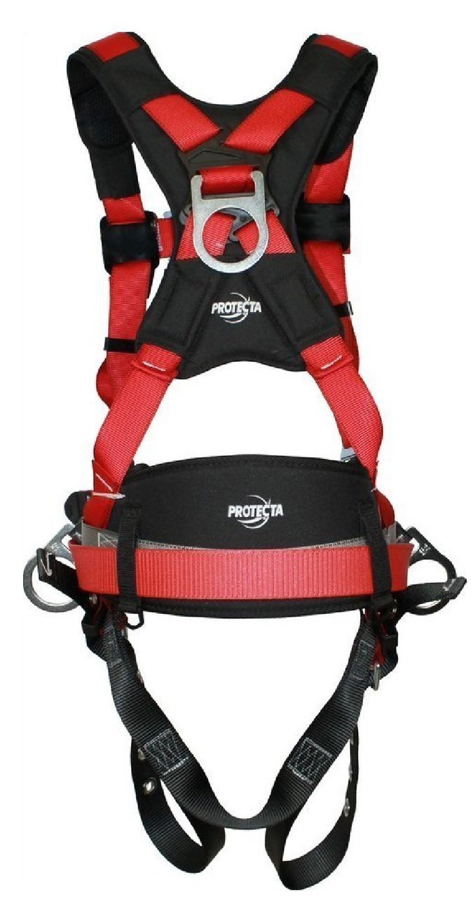 3M Protecta Pro Fall Arrest Kit with Back/Side D-Rings, Shoulder/Hip/Leg Padding, Pass Thru Buckle Chest and Tongue Buckle Legs (Small) by ProTecta (Image #2)