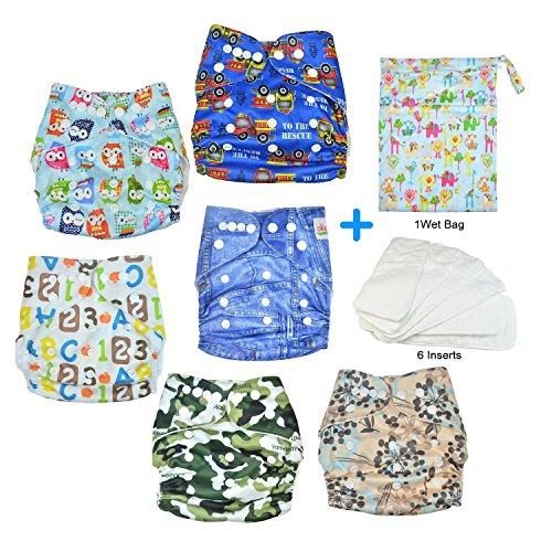 happycell-reusable-baby-cloth-diapers-accessories-6-nappies-6-inserts-1-wet-bag-all-in-one-washable-