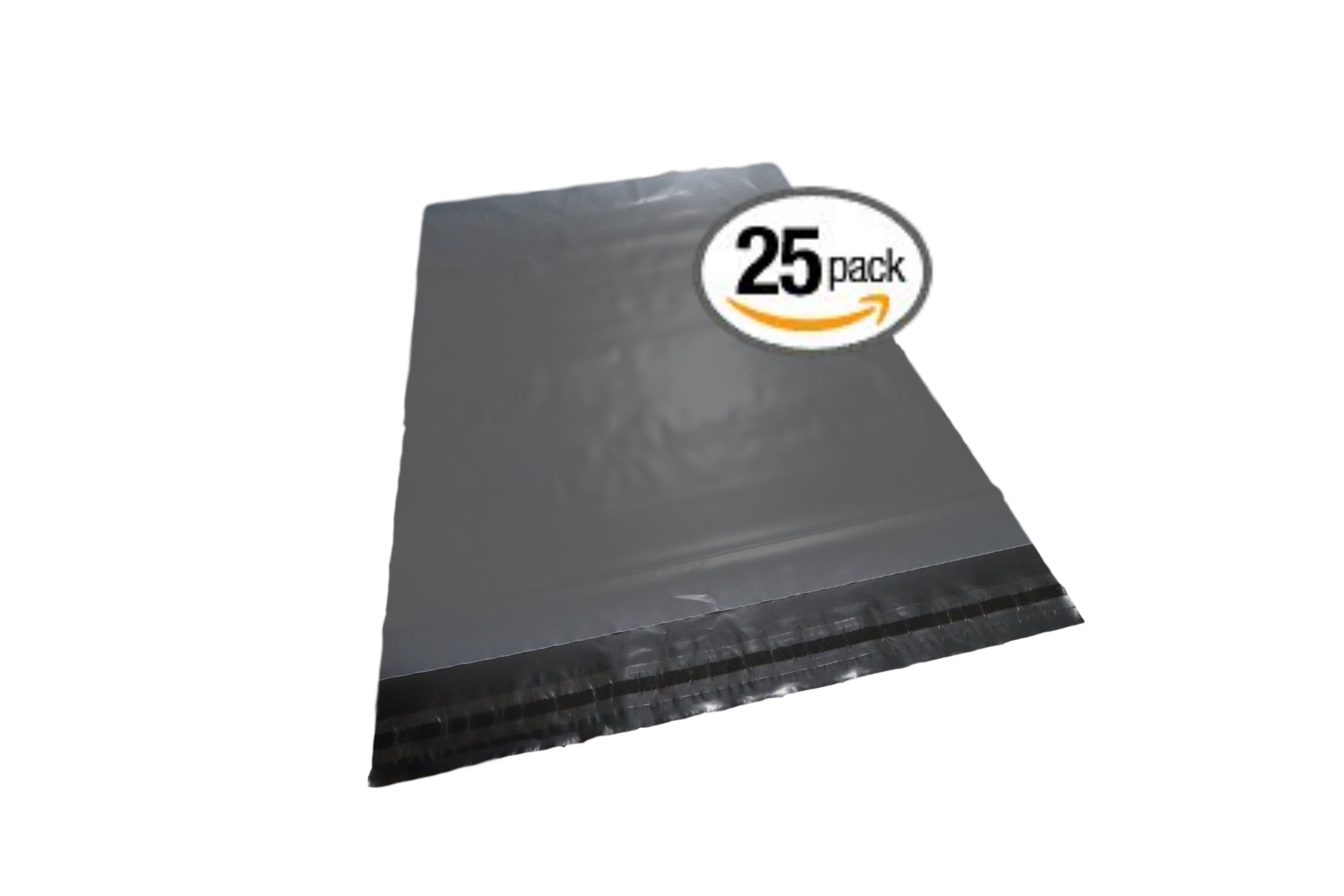 Shipping Bags - 14'' x 19'' Extra Large Shipping Self Seal Poly Bags, Easy Peel and Stick, 2.4 mil-25 qty with Quick Fulfillment Adhesive Strip