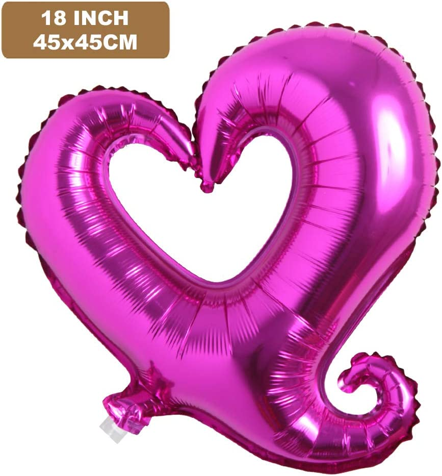 Details about  /Red champagne Siamese LOVE 18 inch heart-shaped love aluminum balloon
