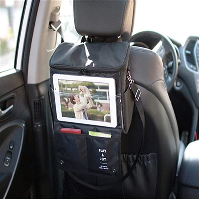 Car Seat Back Multi-Pocket Storage Bag Tidy Organiser Cool Hot Travel Holder MA