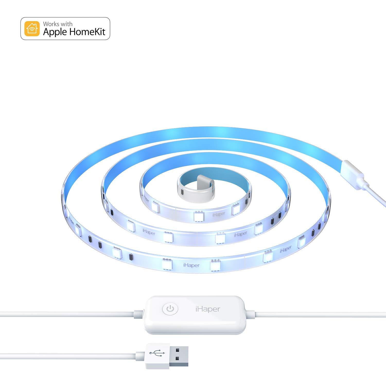 Striscia LED,iHaper striscia luci led intelligente 6.6ft WiFi striscia led rgb Dimmerabile Compatibile Android