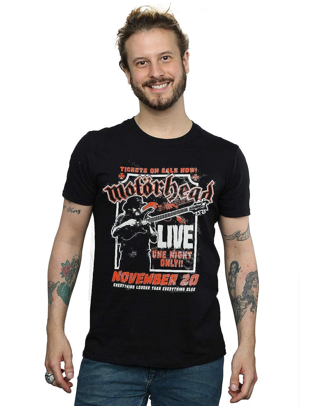 Absolute Cult Motorhead Hombre Lemmy Firepower Camiseta