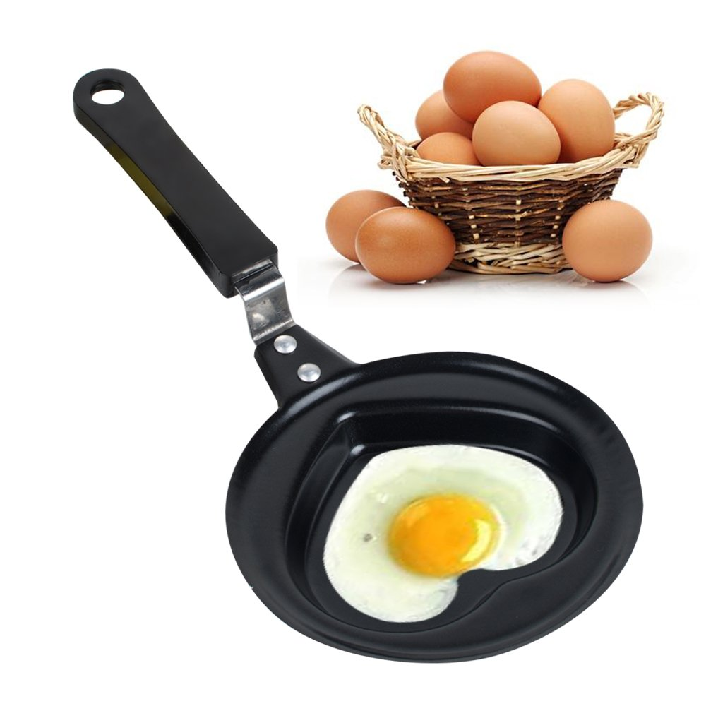 Zinnor Mini Fried Egg Pan Frying Cook Egg Pancake Stainless Steel Heart Mould Kitchen Tool