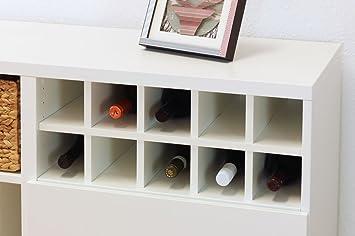Inwona Ikea Besta Regal Einsatz Fur 10 Flaschen Facher 10 X 10 Cm