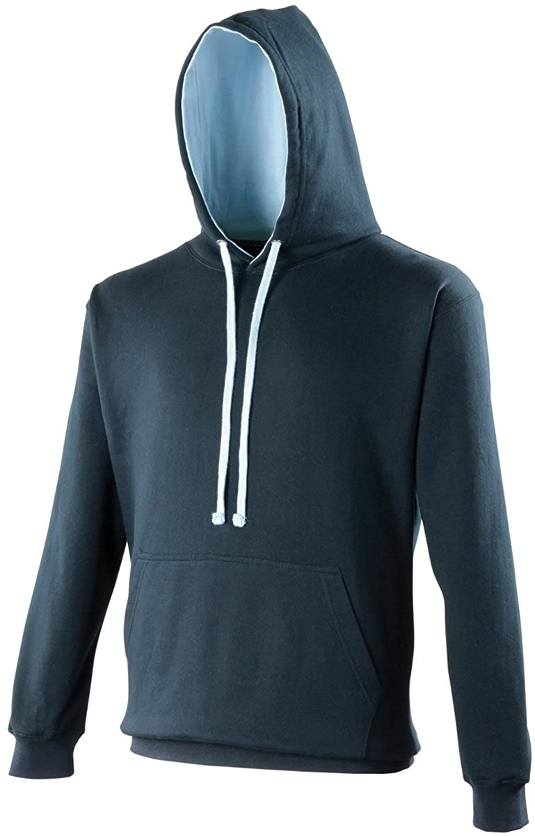 AWDis Hoods Varsity Hoodie New French Navy-Sky Blue Streetwear Hoodies