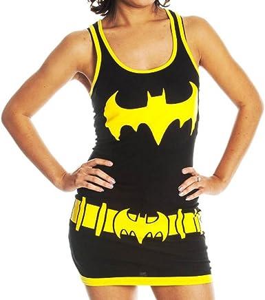 DC Comics Batman Batgirl Costume Juniors Women Girl Tank Top Dress Shirt S SMALL