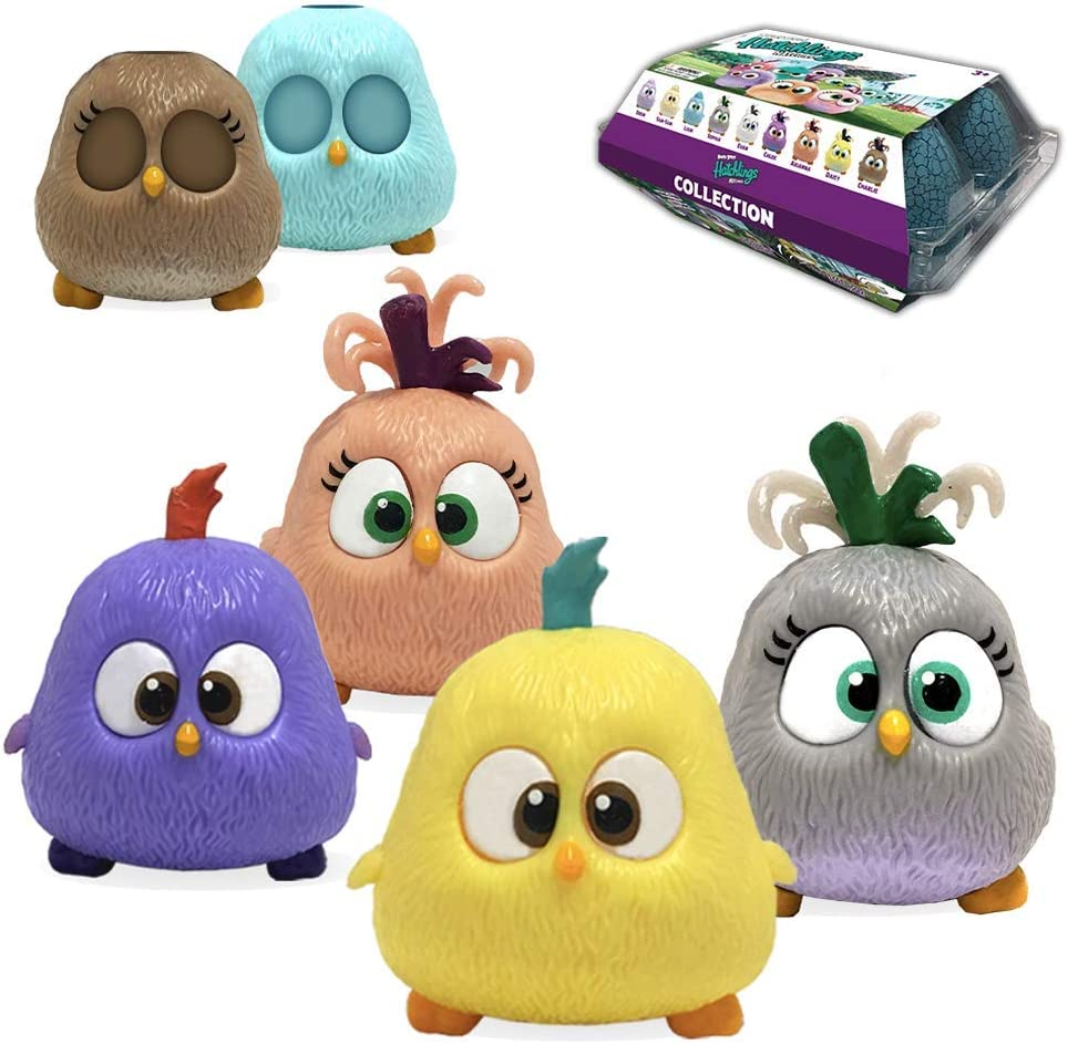 Hatchling Hatchies Collections - 4 Hatchies with 2 Changeable Cover Cases, Mix Match and Create New Combinations, Bounce Like Real Hatchies