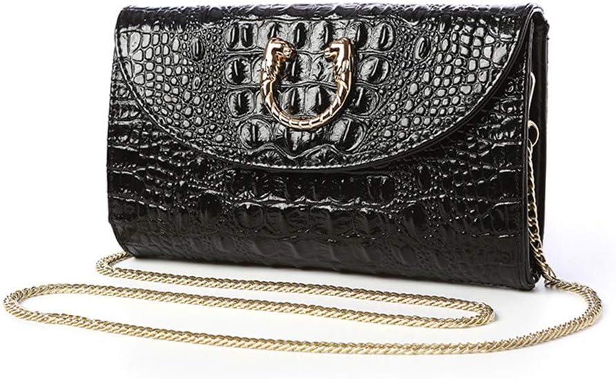 Color : Black FeliciaJuan Dinner Bag Women Elegant Prom Evening Clutch Bag Shoulder Bag with Chain Strap Wetlook PU Leather Handbag Purse for Cocktail Party Wedding Bag Clutch Evening Handbag