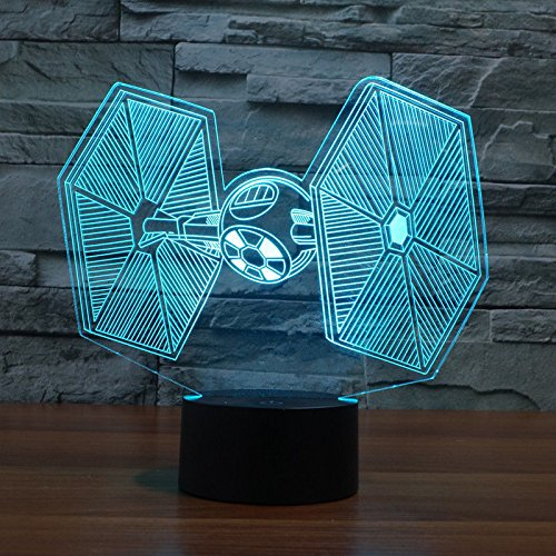 Comics+3D+Night+Lamp+ Products : Titanium Fighter 3D Light Led Table Lamp Acrylic Night Light Usb Party Decor