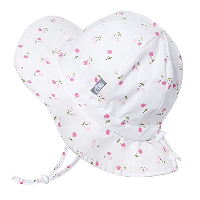 b81cfca8a JAN & JUL Kids 50+UPF Cotton Sun-Hat, Adjustable for Growth with Strap, for  Baby Toddler Girls