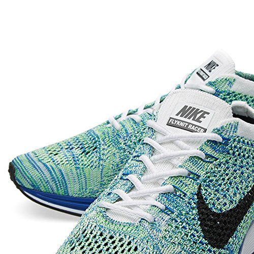 Zapatillas Nike adultos Racer Blanco Azul Negro Black Grn Gm deporte Unisex Flyknit Strk Royal Verde de White qErwEY