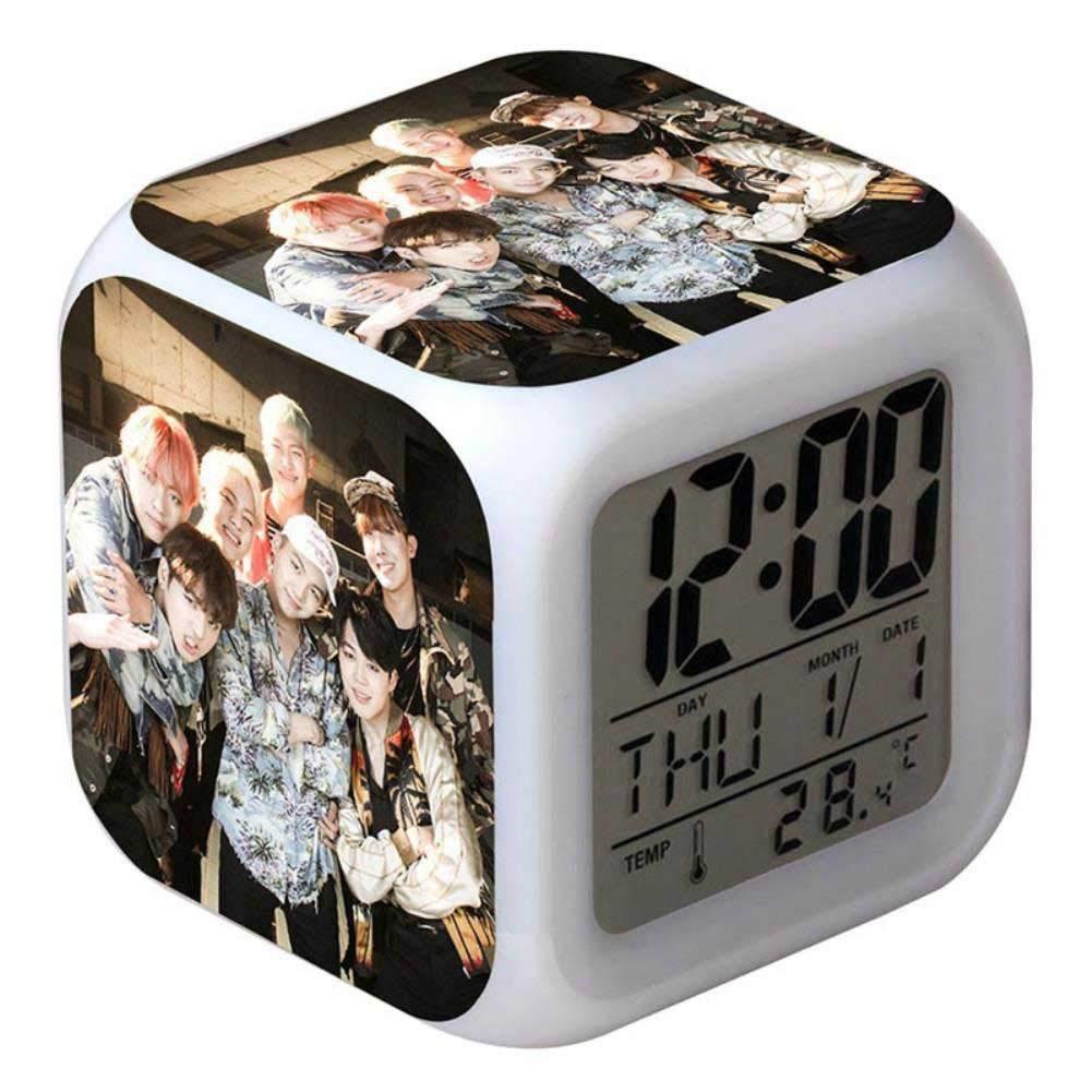 Amazon.com: Digital Alarm Clock LED Boys 7 Color Flash ...