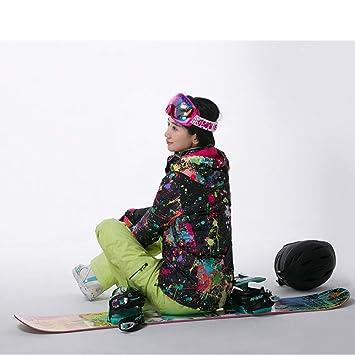 KD Chaqueta de esquí para Mujer, con Estilo Invierno ...