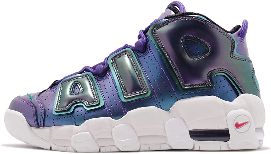 VNDS Nike Air More Uptempo 96 Womens Size 7.5 Chrome Silver Blue Mens 6 Pippen