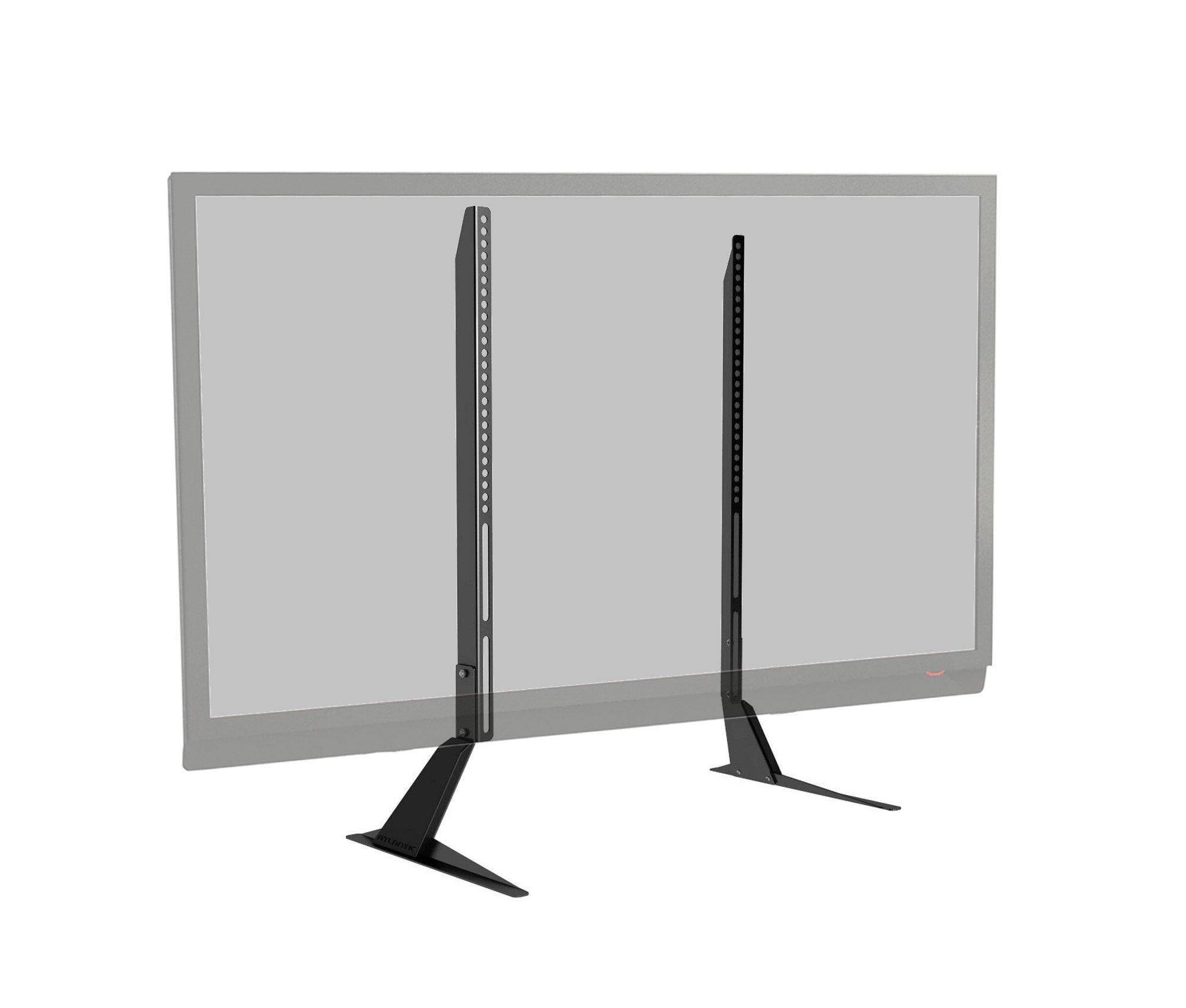 atlantic universal table top tv stand base mount for. Black Bedroom Furniture Sets. Home Design Ideas