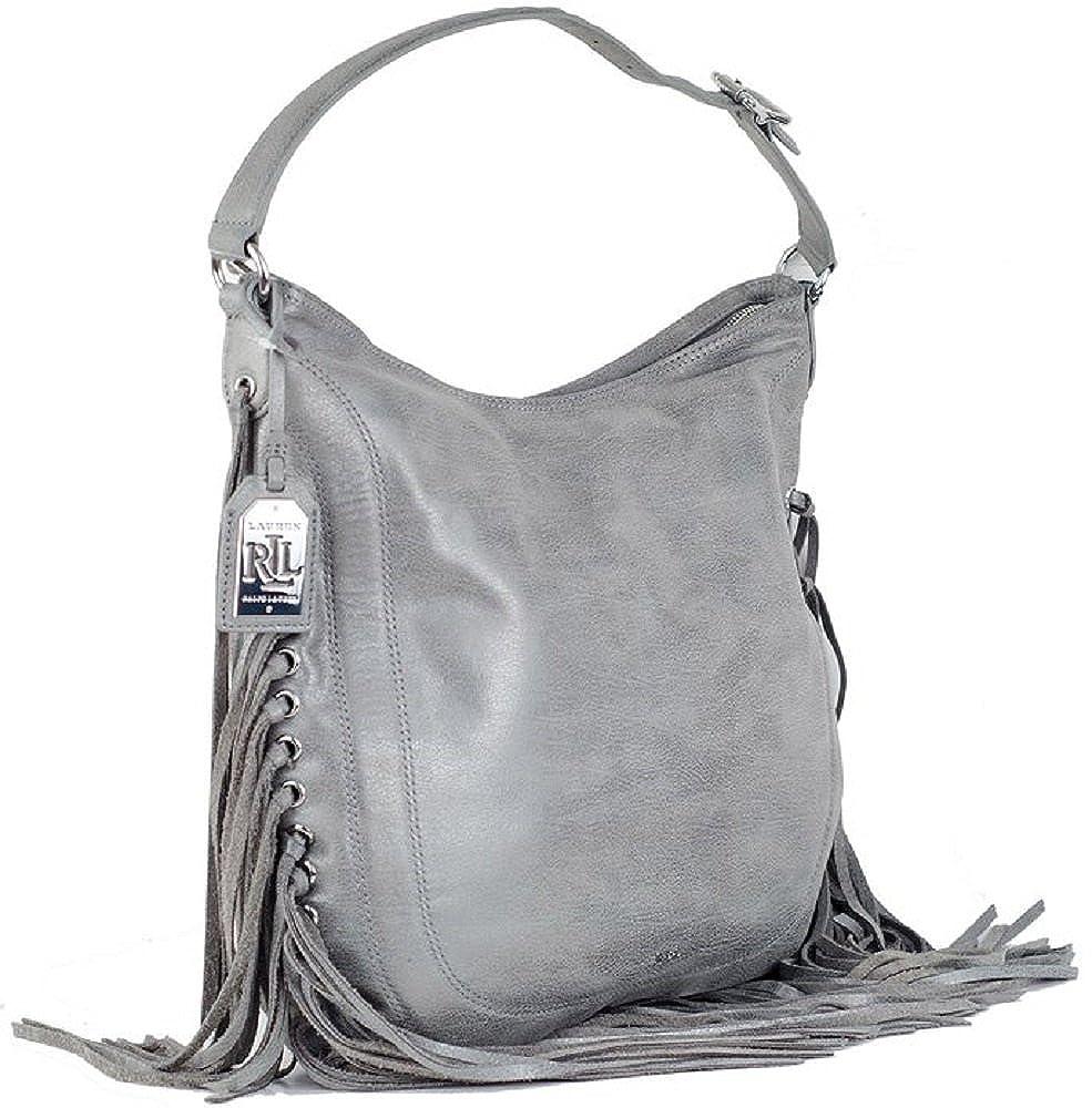 eb7bffd72d62 Amazon.com  Lauren Ralph Lauren Leather Fleetwood Hobo Women s Handbag