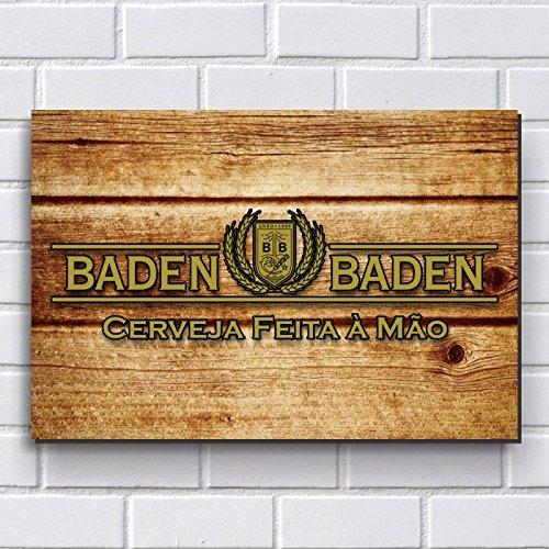 Placa Decorativa em MDF com 20x30cm - Modelo P324 - Cerveja Baden Baden
