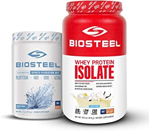 Biosteel Natural Isolate Blend Protein Powder (700 Grams) + White Freeze Sports Hydration Mix (45 Servings)