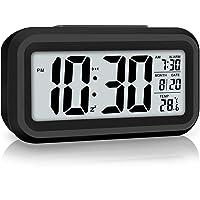 WulaWindy Digital Alarm Clock Battery Operated Smart Night Light Easy Operation Clock for Kids Heavy Sleepers Bedroom…