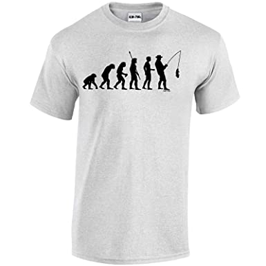 Evolution Of Fishing Mens Funny T-Shirt