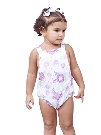060758933997 Amazon.com  JAEA Kids! Baby Girls Lilac Floral Print Criss-Cross ...