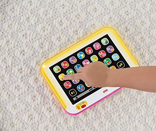 61QoYUakjVL - Fisher-Price Laugh & Learn Smart Stages Tablet, Pink