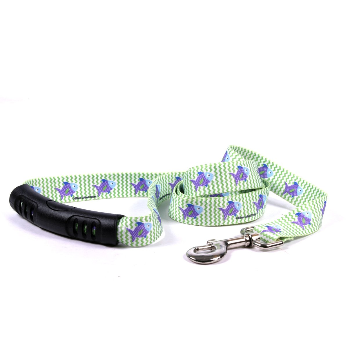 Yellow Dog Design Fish Tales Ez-Grip Dog Leash with