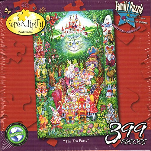 Alice in Wonderland The Tea Party 399 Pieces Puzzle (Size 26 1/2'' X 17 1/4'') by Serendipity