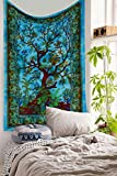"""Exclusive Custom Range of Branded Twin Size Tapestries By """"The Boho Street"""", Indian Mandala Wall Art, Hippie Wall Hanging, Bohemian Bedspread"""