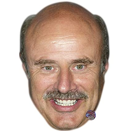 Dr Phil McGraw Celebrity Mask, Card Face and Fancy Dress Mask