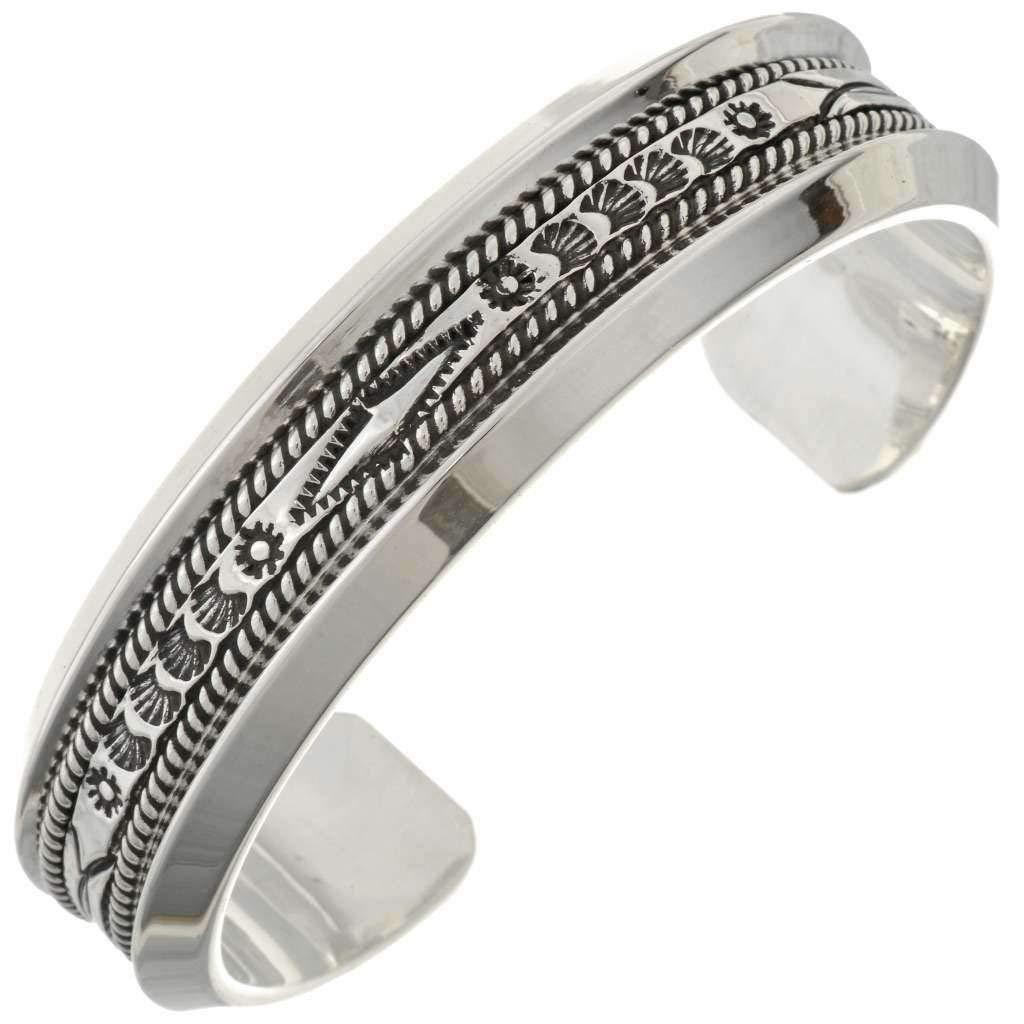 a69c8ea0c43f0 Amazon.com: Heavy Gauge Hammered Silver Mens Cuff Navajo Twist Wire ...