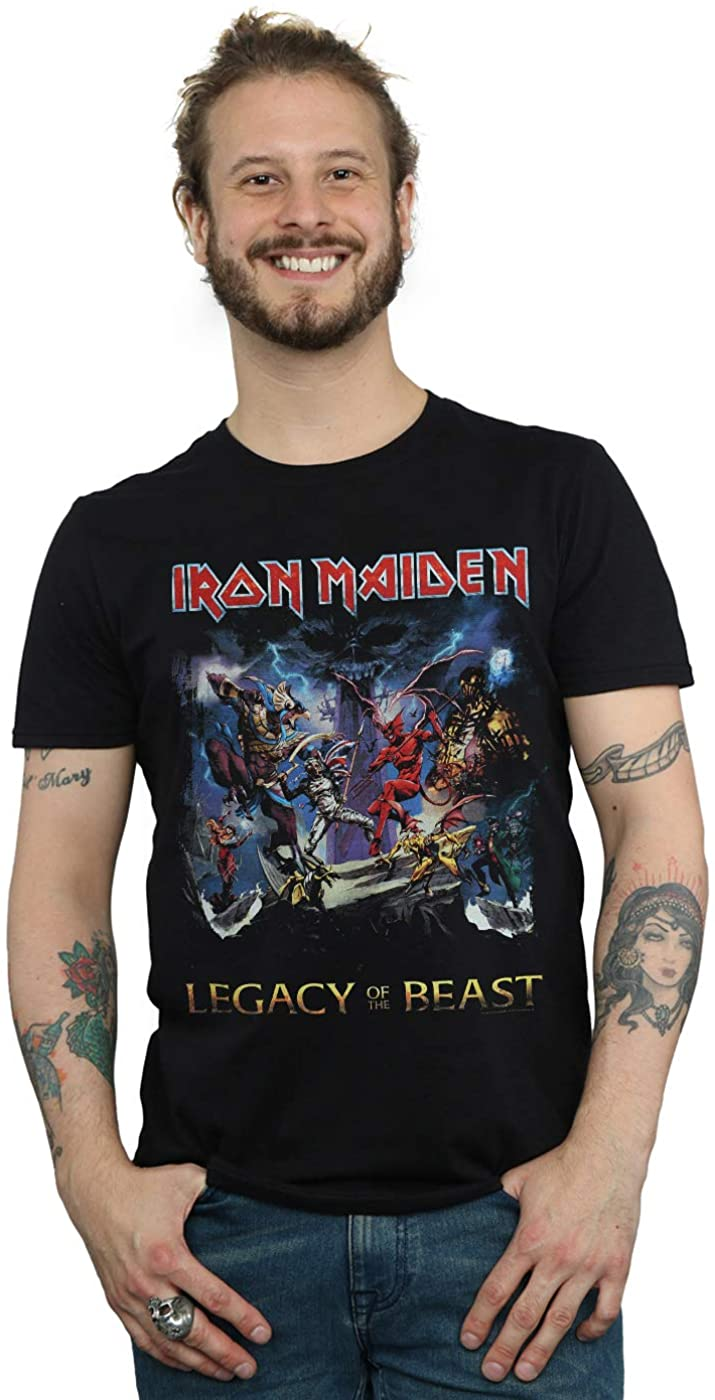 Absolute Cult Iron Maiden Hombre Legacy of The Beast Camiseta Negro Small: Amazon.es: Ropa y accesorios