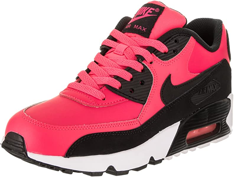 detailed look 65891 d035a Amazon.com   NIKE Air Max 90 LTR Big Kid s Shoes Racer Pink Black White  833376-600 (6 M US)   Running