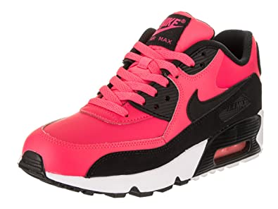 cc06bae889 Amazon.com | Nike Air Max 90 LTR Big Kid's Shoes Racer Pink/Black ...
