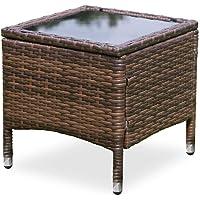 Luxo Mucura PE Wicker Outdoor Side Table - Brown