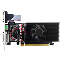 Topmore GeForce GT210 Tarjeta Gráfica Velocidad de Reloj del procesador: 266MHz~459MHz- (DVI-I/HDMI/VGA, 1GB, GDDR2, 64Bit PCI-Express 2.0)