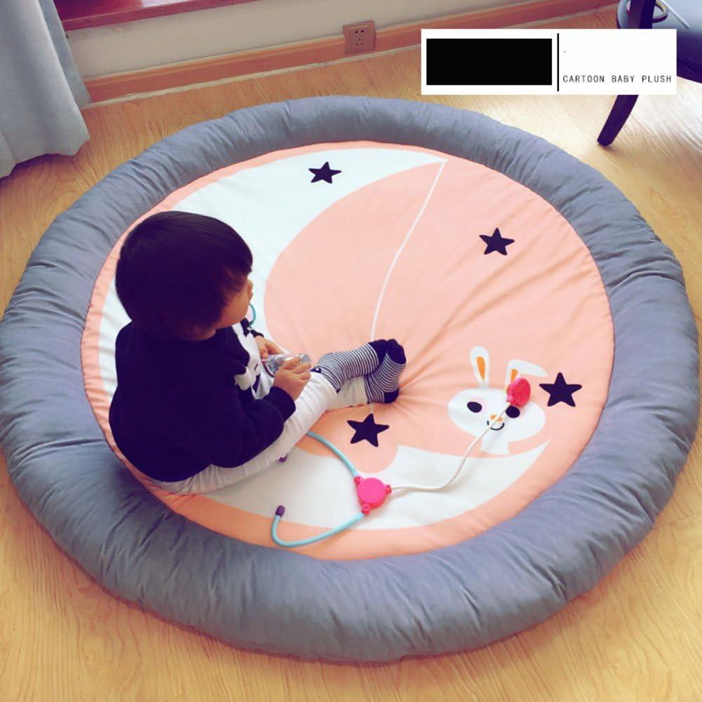 """ラウンドの赤ちゃんフロアマット,畳 ベッド 厚く ラグ・カーペット 子供のプレイマット""""d 55-C"""
