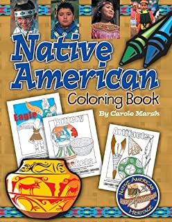 native american coloring book native american heritage - Native American Coloring Book