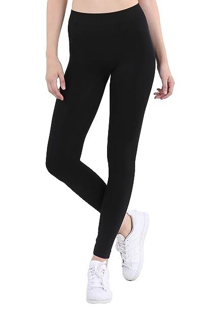 811055ffbafee Nikibiki Women's Seamless Base Layer Legging Tights, One Size (Black ...