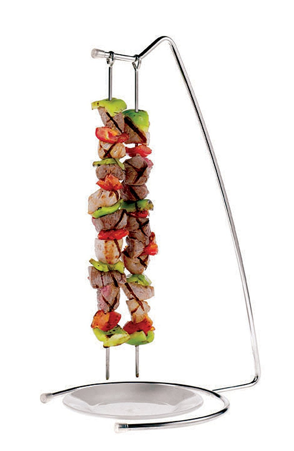 Paderno World Cuisine Stainless-steel Set of Four Grill Skewers and Stand [並行輸入品]   B06X3R3V1F
